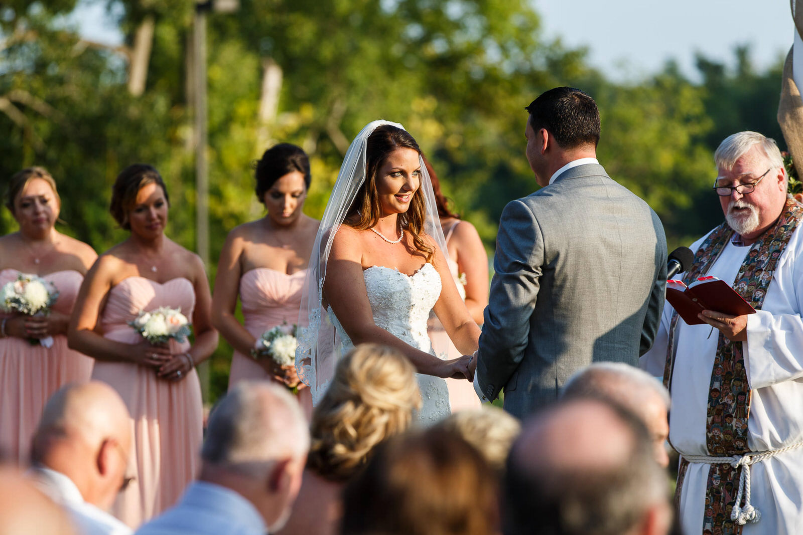 Wedding Vows at Saint Clements Castle & Marina
