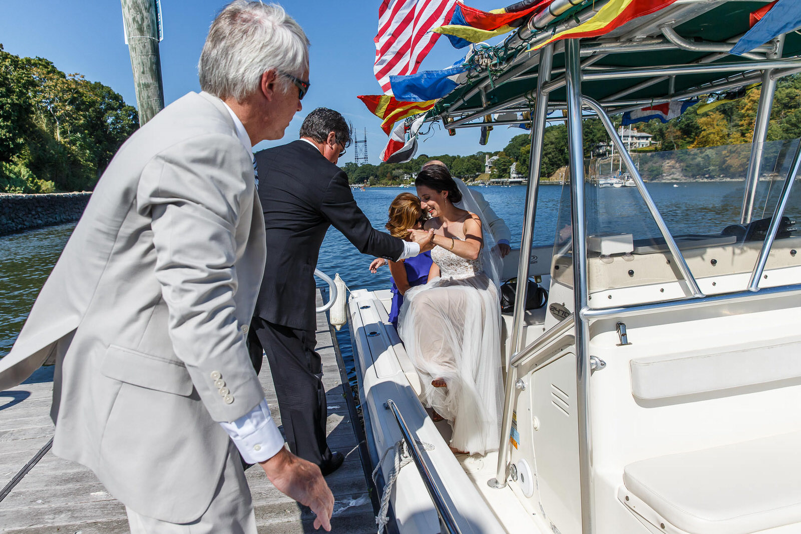 Riverboat Wedding Entrance by Westport Photographer David Butler II