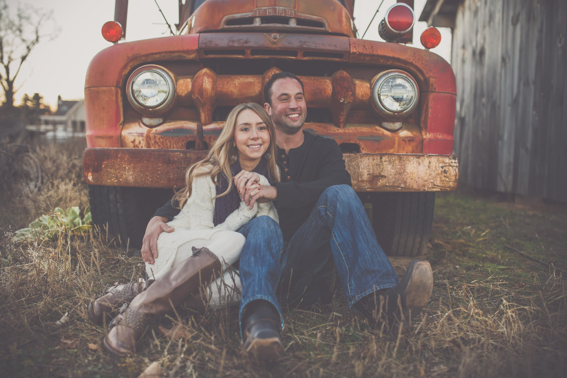 Classic Car Engagement Photos, Enfield CT
